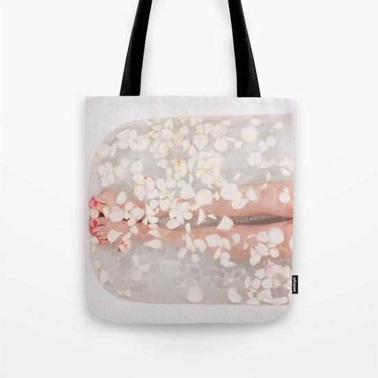 Floral bath Tote Bag