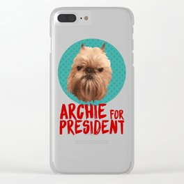Archie for President Clear iPhone Case