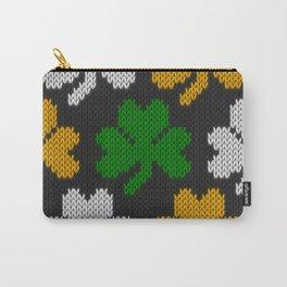 Shamrock pattern - black, orange, green, white Carry-All Pouch
