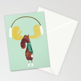 This moose is ready for winter Stationery Cards