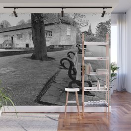 Lonely bench Wall Mural