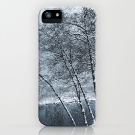 Snow Falling on a Tree iPhone Case