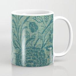 art Nouveau,teal,William Morris style, floral,chic,elegant,modern,trending,victorian decor,floral pa Coffee Mug