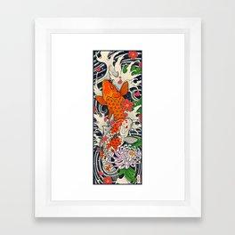 Art of Koi Fish Leggings Framed Art Print