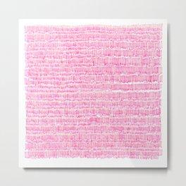 Sea of pink - a handmade pattern Metal Print