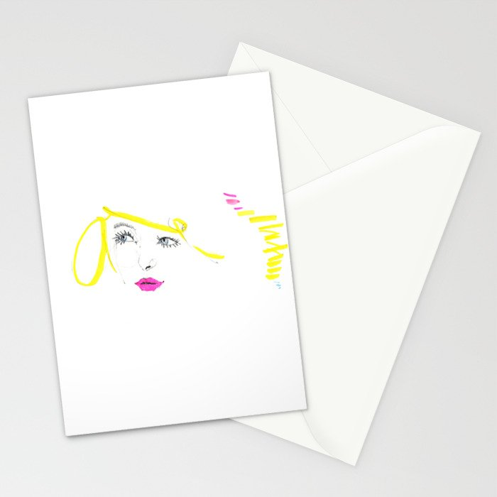 Blonde Blue Stationery Cards