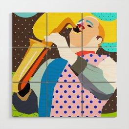 Saxophonist Wood Wall Art