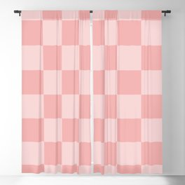 Pastel Pink Mini Checkers Blackout Curtain