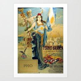1910 Fernet Branca Liqueur Aperitif Advertisement Art Print
