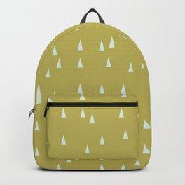 Mini retro tree pattern - Green & Aqua Backpack