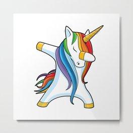 Unicorn Dabbing - Dab Dance Metal Print
