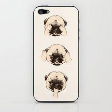 No Evil Pug iPhone & iPod Skin
