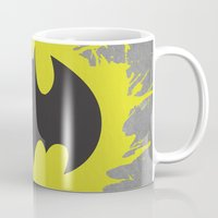 bat man Mugs featuring Bat Man by Some_Designs