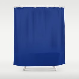 Solid Bright Lapis Blue Color Shower Curtain
