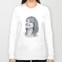 hayley williams Long Sleeve T-shirts featuring Hayley Williams Portrait. by Dioptri Art