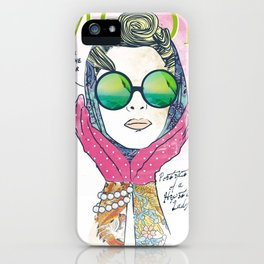 Hipster lady iPhone Case