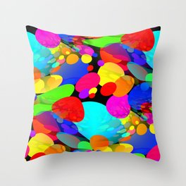 Bouncing Off the Walls - Abstract Throw Pillow