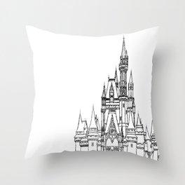 Magic Aesthetic Castle Throw Pillow