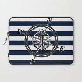 Navy Striped Nautica Laptop Sleeve