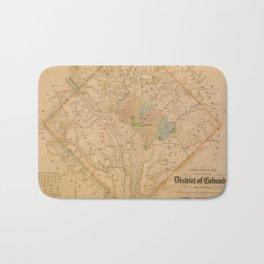Civil War Washington D.C. Map Bath Mat