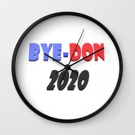 Bye-Don 2020 Text design  Wall Clock