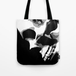 Skull Over Darkness Tote Bag