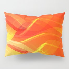 Theme of fire for the banner. Bright red and orange glare on a gentle background for a fabric or pos Pillow Sham