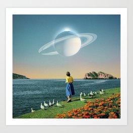 Watching Planets Art Print