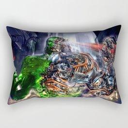 Green Ape Evolution Rectangular Pillow