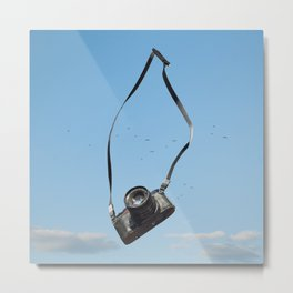 The Flying Camera Metal Print