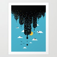 Melting Skyline Art Print