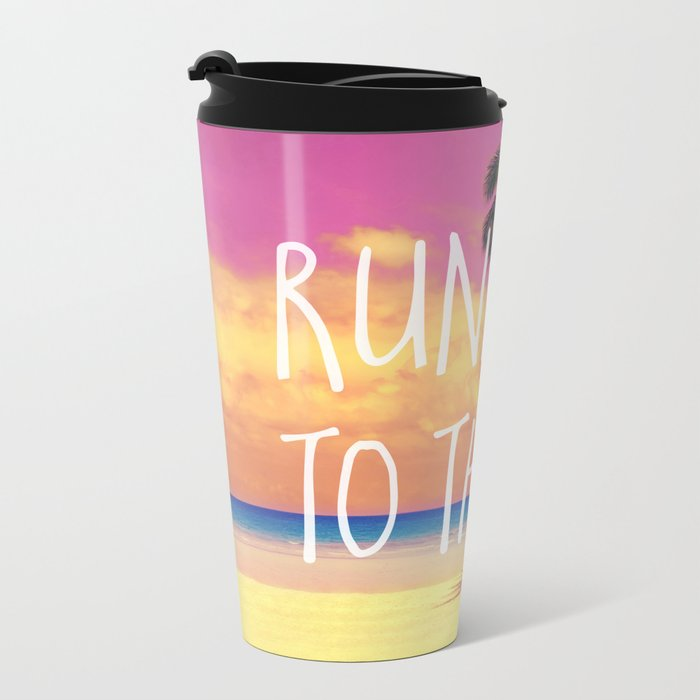 Running to the Sea Metal Travel Mug