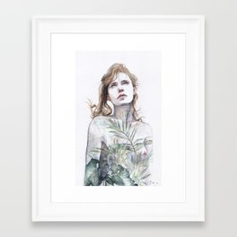 Breathe in, breathe out Framed Art Print