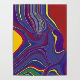 CRAY - vivid rich jewel primary color block design Poster