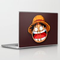 luffy Laptop & iPad Skins featuring Luffy & Nose Sticks! by Orfik