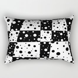 Holes In Black And White Rectangular Pillow