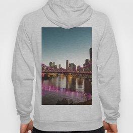 brisbane skyline at dusk Hoody