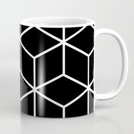 Black and White - Geometric Cube Design II Coffee Mug