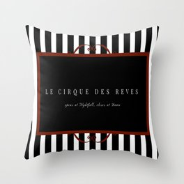 Night Circus Invitation Throw Pillow