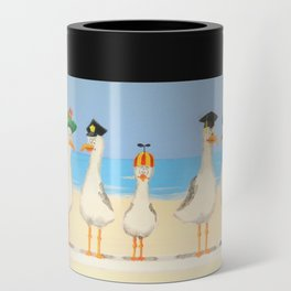 Seagulls with Hats Can Cooler