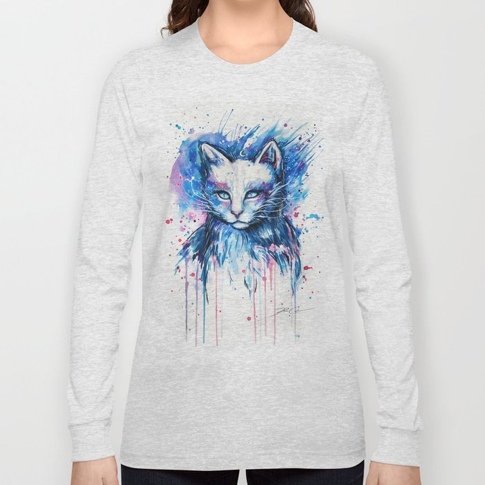 """Space cat"" Long Sleeve T-shirt"