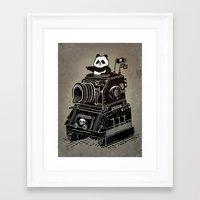 panda Framed Art Prints featuring Panda by Ronan Lynam