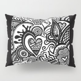 Hearty Arty Doodle Pillow Sham