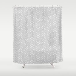 Mudcloth Big Arrows in Grey Shower Curtain