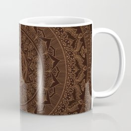 Mandala Dark Chocolate Coffee Mug