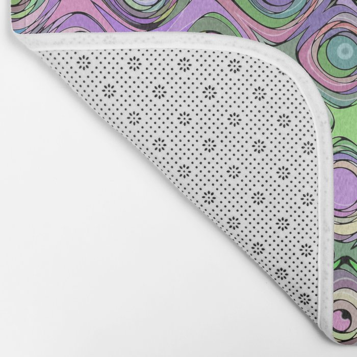 Abstract Pattern of Colorful Shapes  Bath Mat
