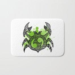 Zodiac Zentangle - Cancer Bath Mat