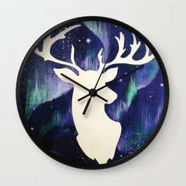 Deer   Stardust Wall Clock
