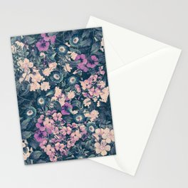 Floral Nights Space Dreams Stationery Cards