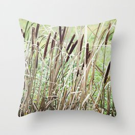 Cattails 1 Throw Pillow